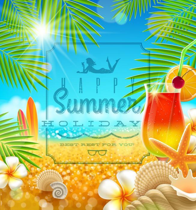 Vinylová Tapeta Tropické letní prázdniny konstrukce - Prázdniny