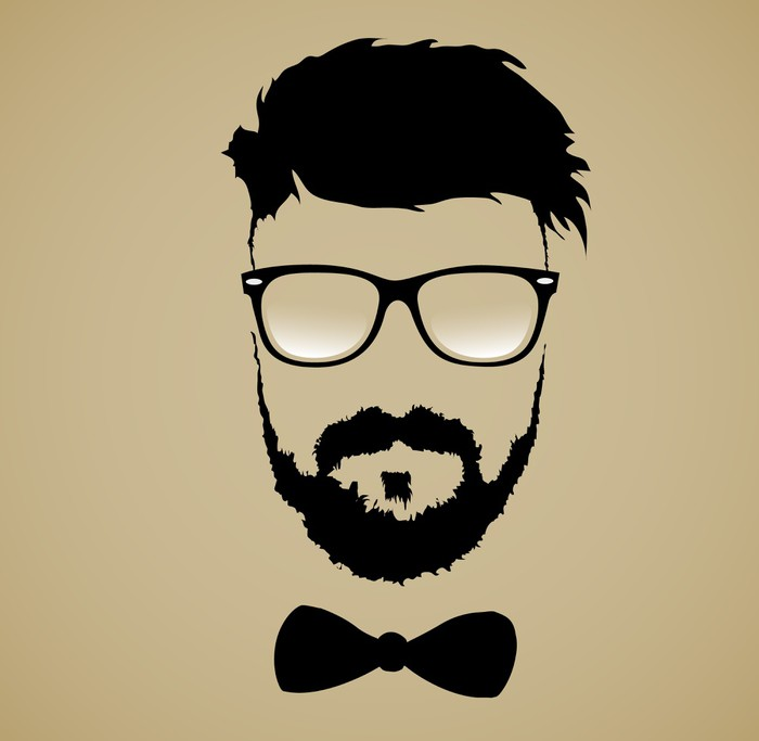 mustache beard glasses hairstyle Sticker • Pixers® • We live to change