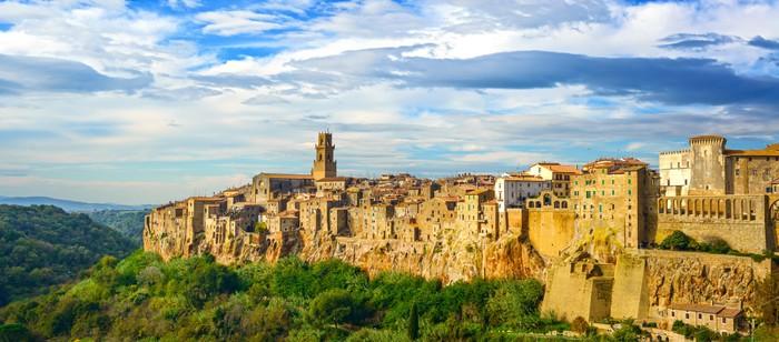 Nálepka Pixerstick Toskánsko, Pitigliano středověké vesnice panorama krajiny. Itálie - Témata