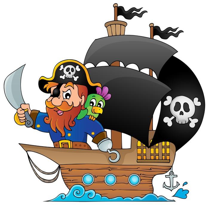 fototapete schiff mit piraten 1 pixers wir leben um zu ver ndern. Black Bedroom Furniture Sets. Home Design Ideas