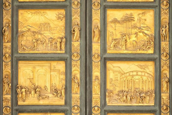Vinylová Tapeta Gates of Paradise, Florence, Italy, detail - Veřejné budovy