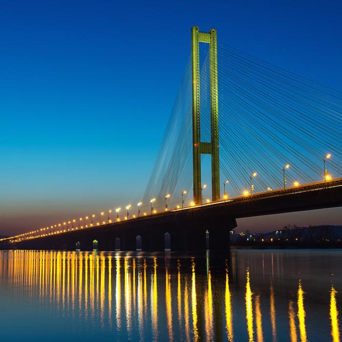 Vinylová Tapeta Jižní most na západ slunce. Kyjev, Ukrajina - Prvky podnikání