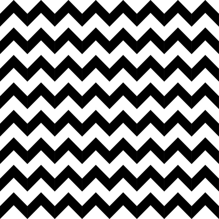 Abstract geometric zigzag seamless pattern. vector Vinyl Wallpaper - Styles
