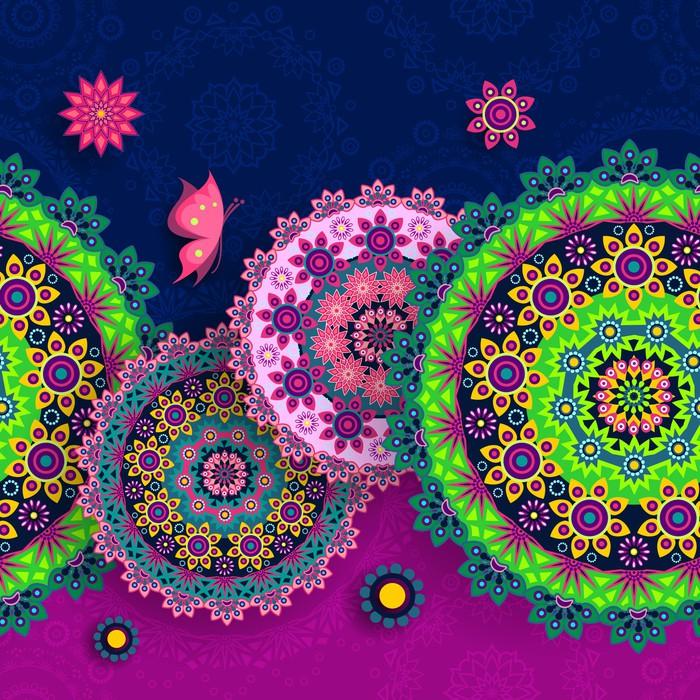 Vinylová Tapeta Banner květinové bezproblémové - Pozadí