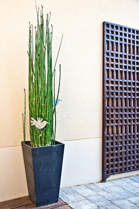Vinilo Para Nevera Terraza Moderna Decoración Zen