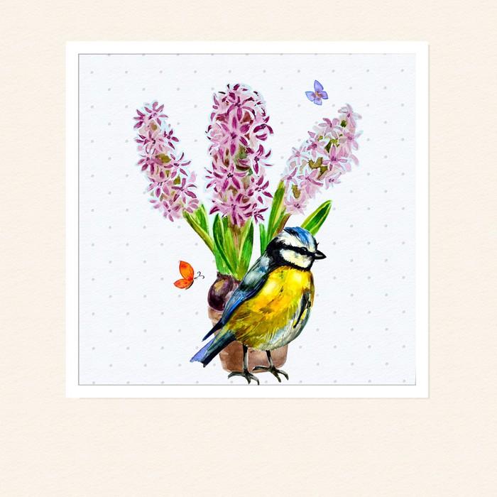 Sticker fleurs domicile dans un vase aquarelle pixers for Fleurs a domicile livraison gratuite