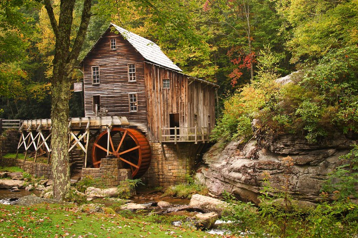 Glade Creek Grist Mill Wall Mural Pixers 174 We Live To