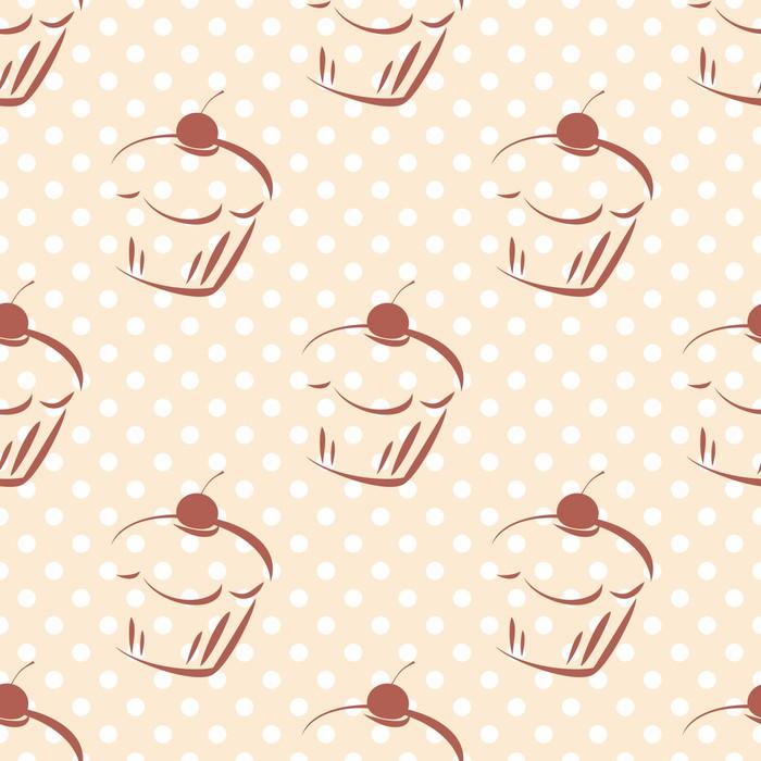 Fotomural Patrón de puntos de polca torta vector transparente de ...