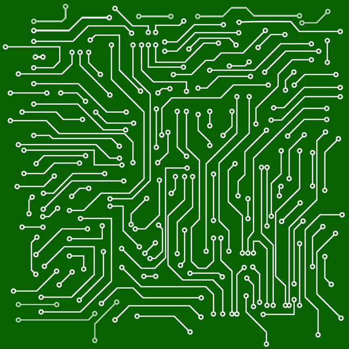 Circuit board vector background Wall Mural • Pixers® • We live to change