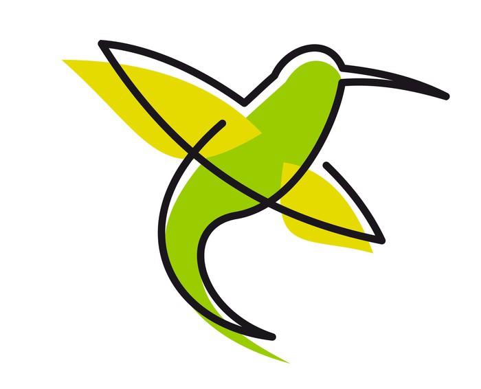 Vinylová Tapeta Elegantní zelený kolibřík - Ptáci