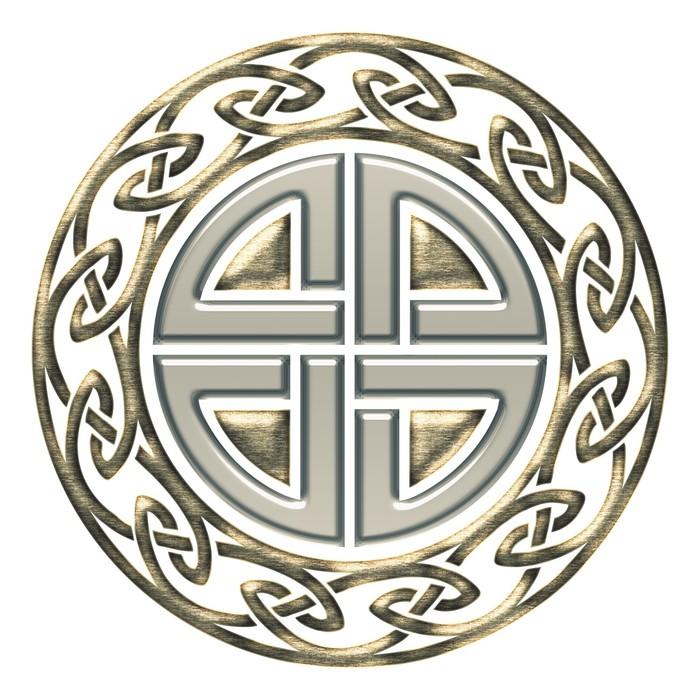 Sticker bouclier noeud de thor symbole de protection - Symbole de protection ...
