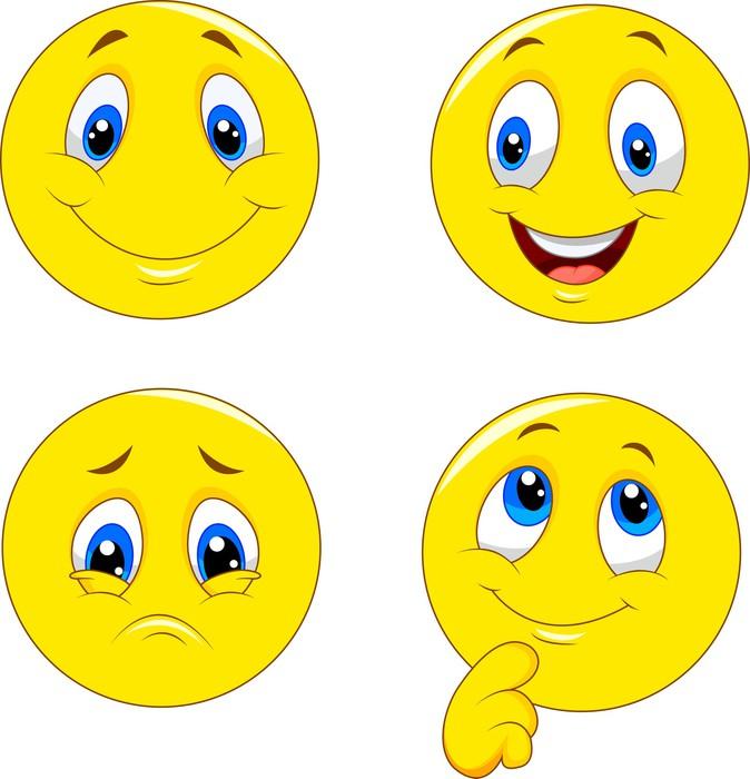 Quadro su tela cartone animato di varie espressioni