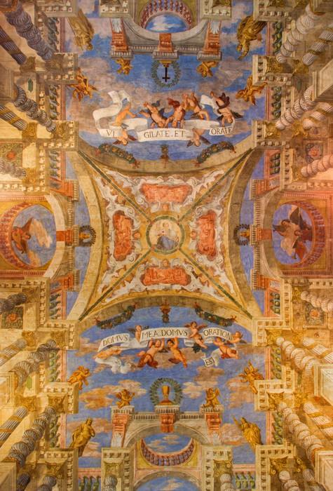 Carta da parati venezia soffitto affresco dalla chiesa for Carta parati soffitto