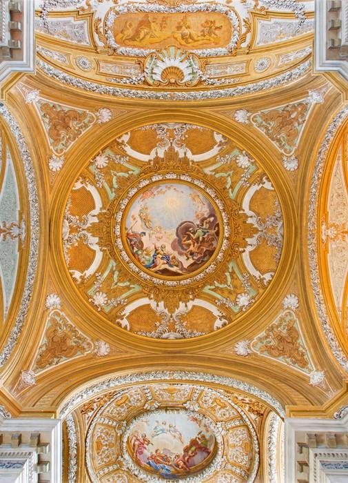 Papier Peint Vinyle Venise - Dôme de l'église de l'église des Jésuites - Villes européennes