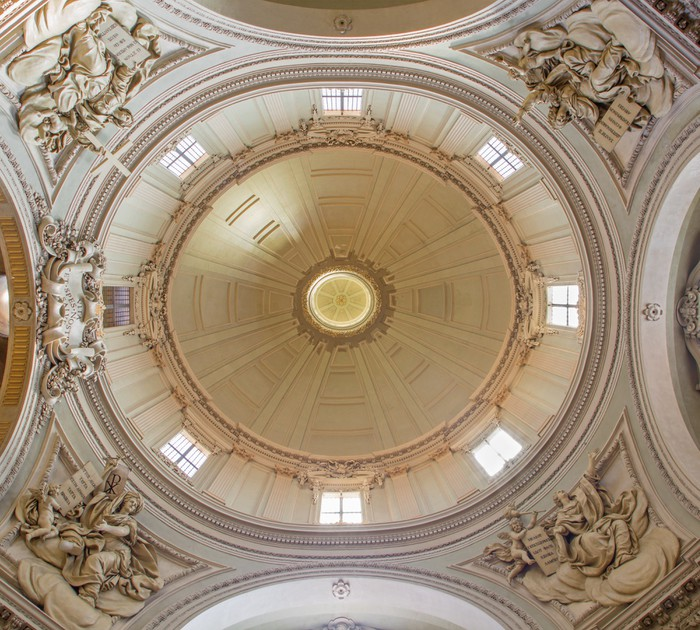 Papier peint vinyle Bologne - église baroque de dôme de Santa Maria della Vita - Europe