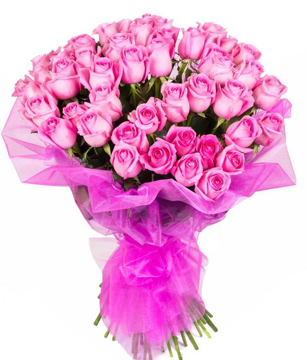 Cuadríptico Ramo de rosas de color rosa • Pixers® - Vivimos para cambiar