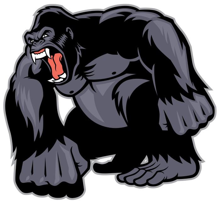 Fotomural Gran Gorila mascota • Pixers® - Vivimos para cambiar