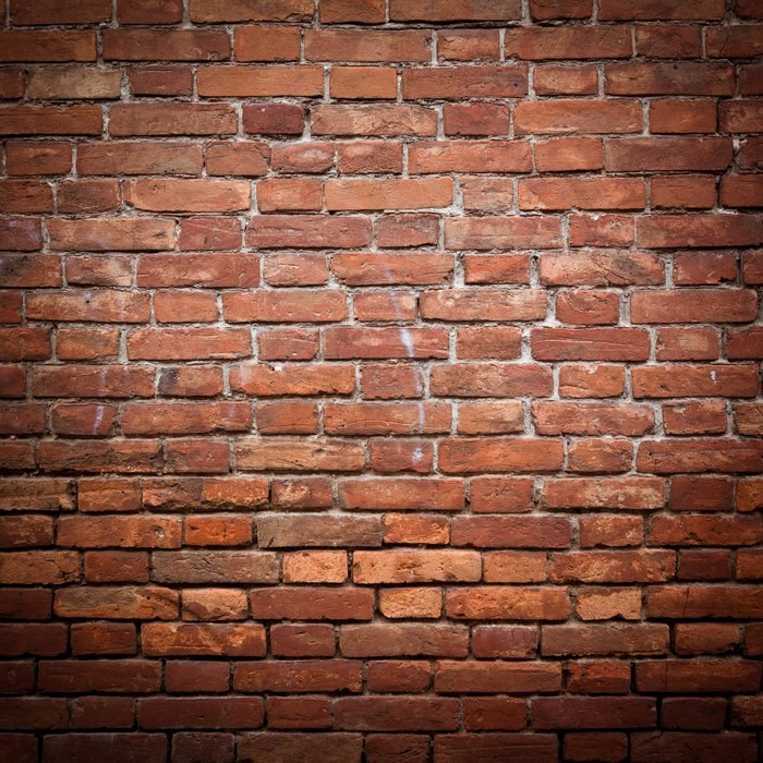 Fotomural antiguo grunge pared de ladrillo rojo textura - Ladrillos para pared ...