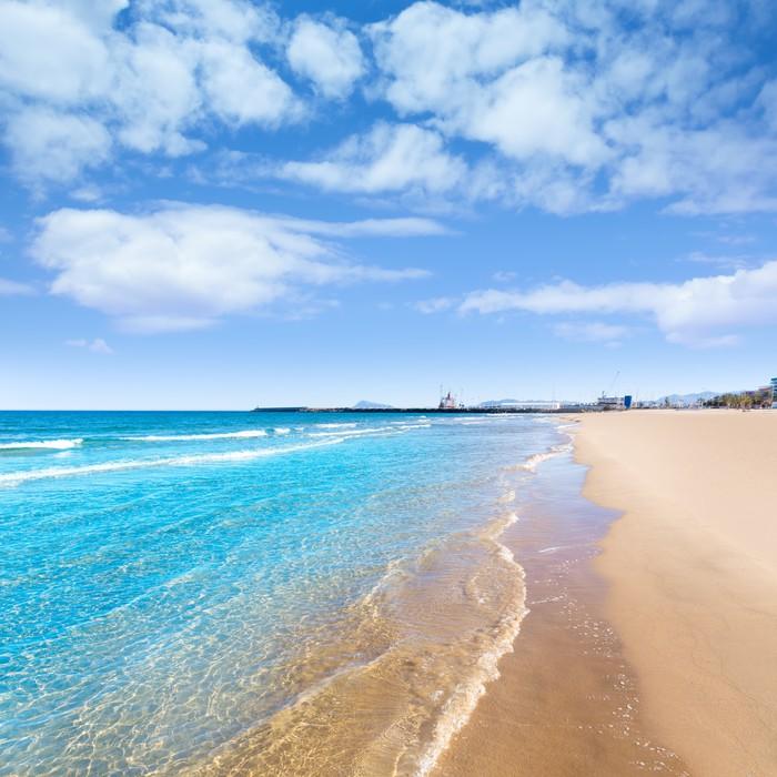 Fotomural playa mediterr nea en gandia valencia espa a - Clinica dental mediterranea ...
