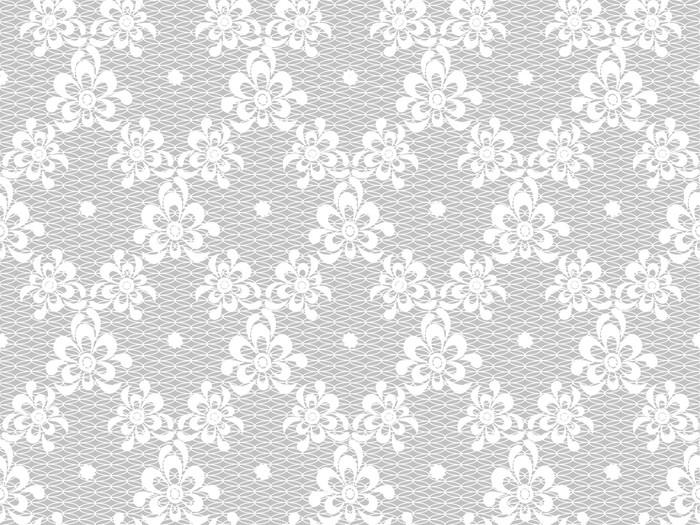 Vinylová Tapeta Květinový vzor krajky - Témata