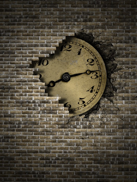 Tableau Sur Toile Vieille Horloge Pixers Nous Vivons