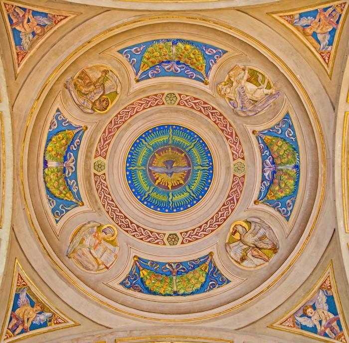Carta da Parati in Vinile Cupola laterale della chiesa di San Pietro - Bologna - quattro Evangelisti - Europa