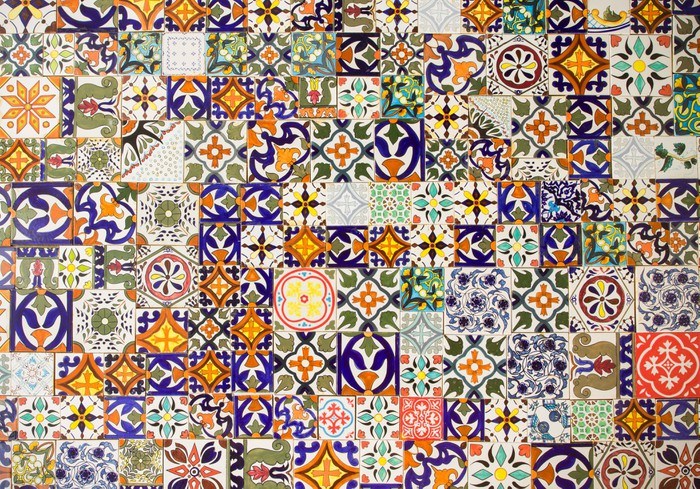 Carta da parati modelli di piastrelle in ceramica pixers for Piastrelle in vinile