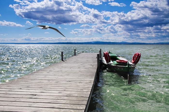 Vinylová Tapeta Molo na řece Amazonky - Prázdniny