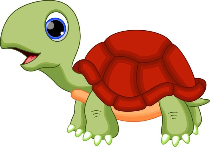 Vinilo pixerstick de dibujos animados lindo de la tortuga - Dibujos de vinilo para paredes ...