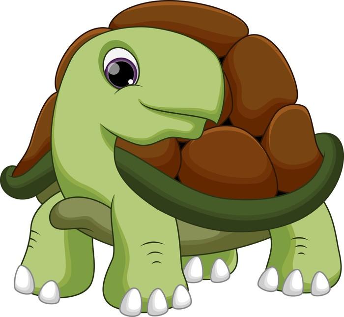 Carta da parati carino cartone animato tartaruga pixers