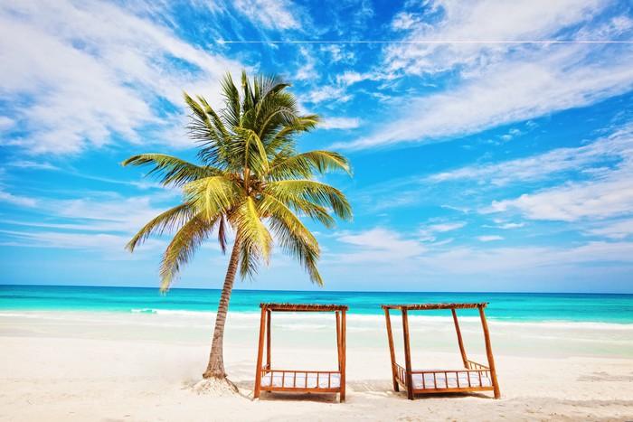 Vinylová Tapeta Dovolená a turistika koncepce: Caribbean Paradise. - Prázdniny