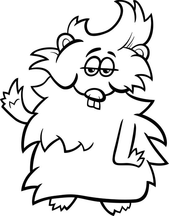 Aufkleber Meerschweinchen Cartoon Färbung Seite • Pixers® - Wir ...