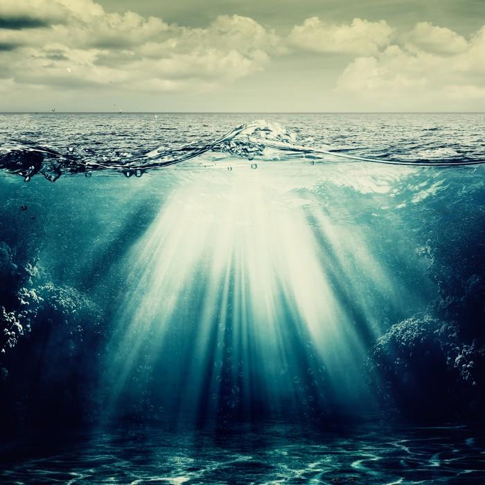 Vinilo Pixerstick Bajo la superficie del océano, fondos abstractos ...