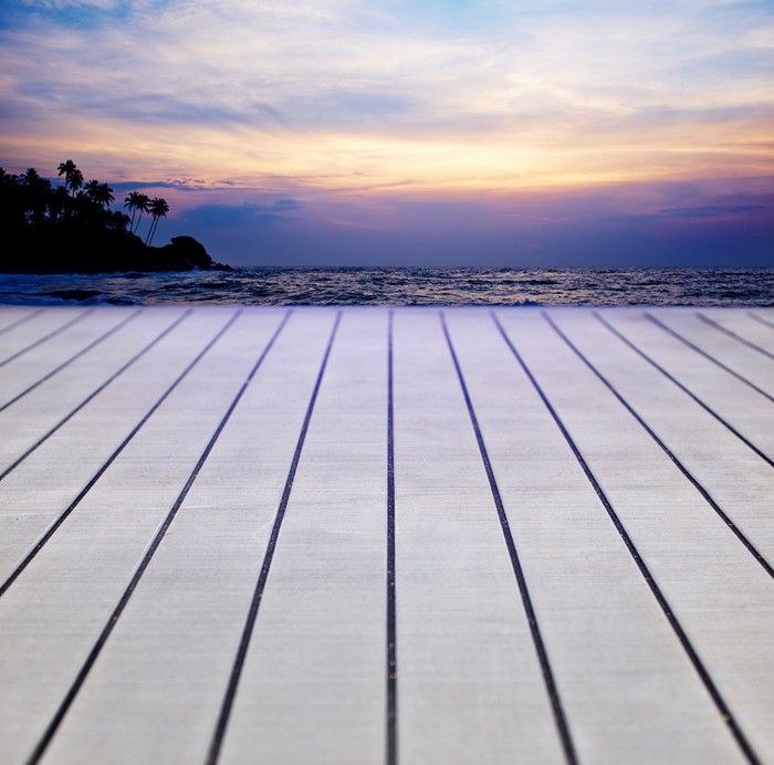 Vinylová Tapeta Terasa dřevo s texturou pozadí - Pozadí