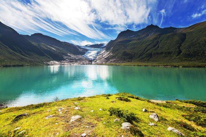 Fototapet Norge landskap • Pixers® - Vi lever för förändring