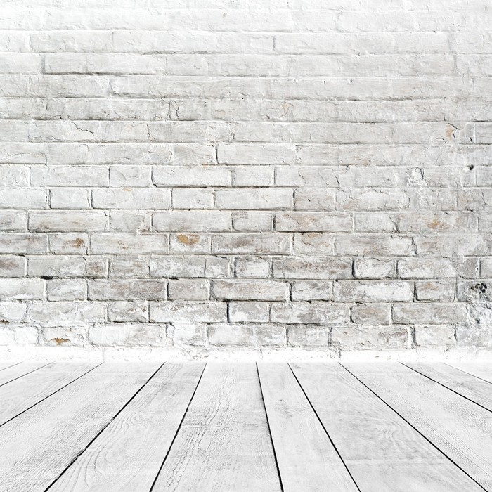 Carta da parati interni camera con muro di mattoni bianchi for Carta da parati muro mattoni