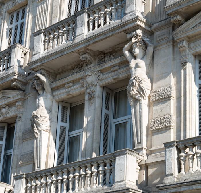 Papier Peint Vinyle Statue de la façade - Thèmes