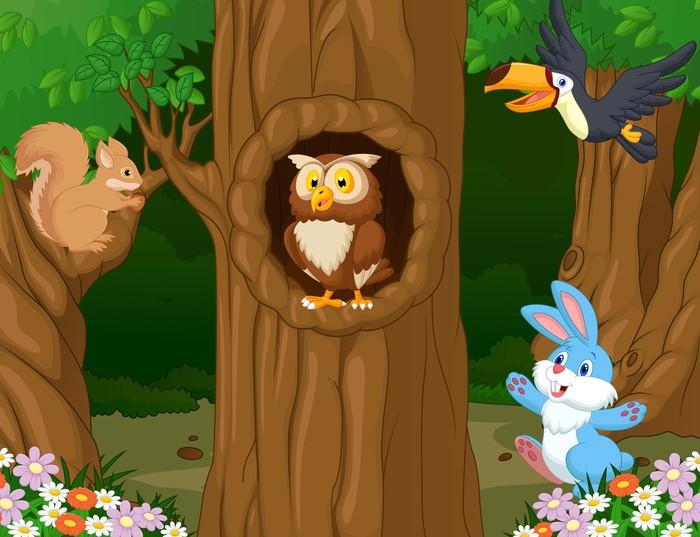 Papel pintado animales en el bosque pixers vivimos - Papel pintado animales ...