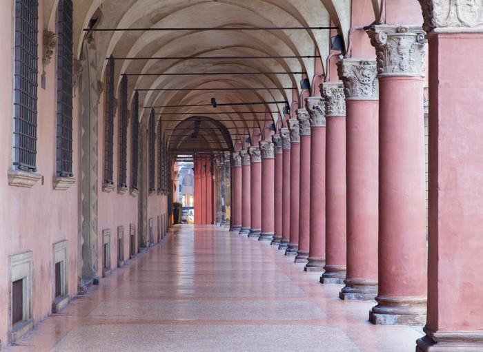 Ufficio Moderno Portici : Carta da parati bologna caratteristici portici di via santo