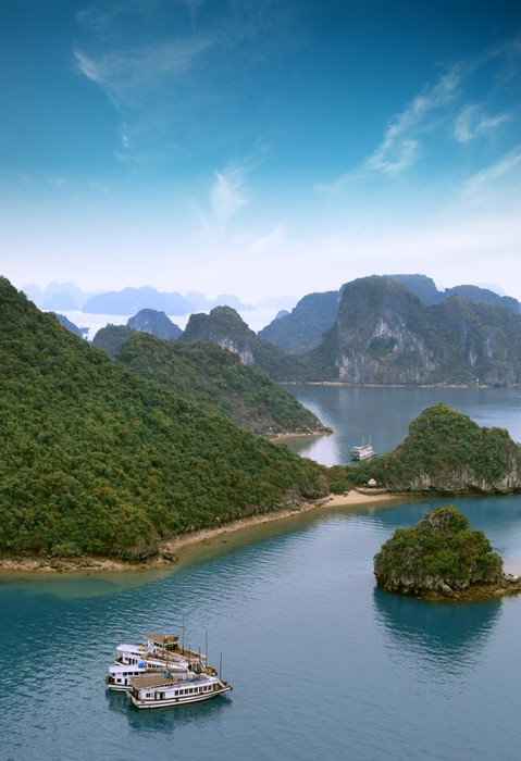 Vinylová Tapeta Halong Bay Vietnam panoramatický výhled - Témata