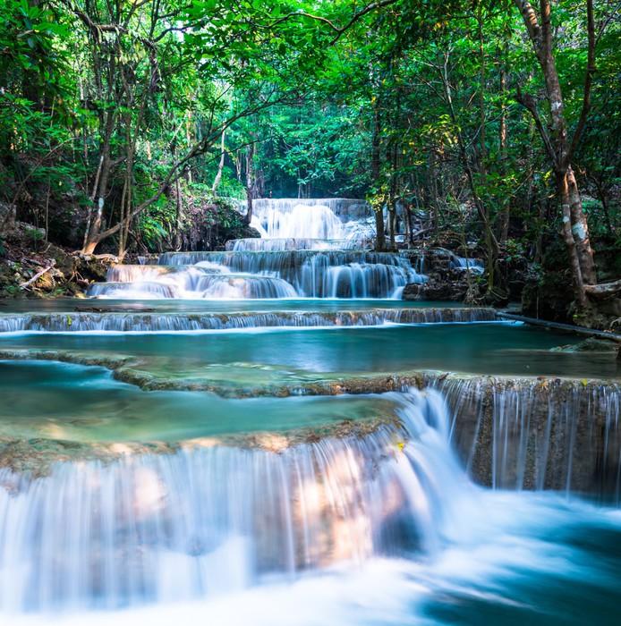 tableau sur toile cascade du parc national huay mae khamin