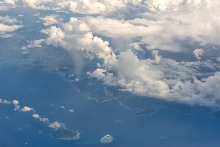 Vinylová Tapeta Indonésie Sulawesi Manado Area Letecký pohled - Ostatní Ostatní