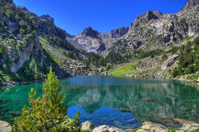 Nálepka Pixerstick Horské jezero - Témata