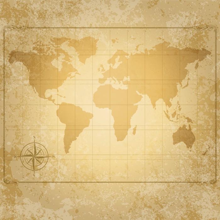 papier peint carte du monde de cru de vecteur avec. Black Bedroom Furniture Sets. Home Design Ideas