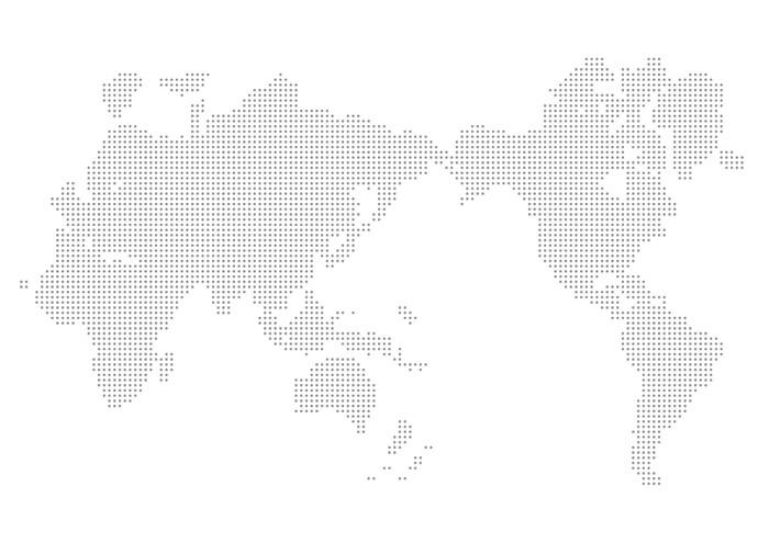 Vinylová Tapeta Map world - Meziplanetární prostor
