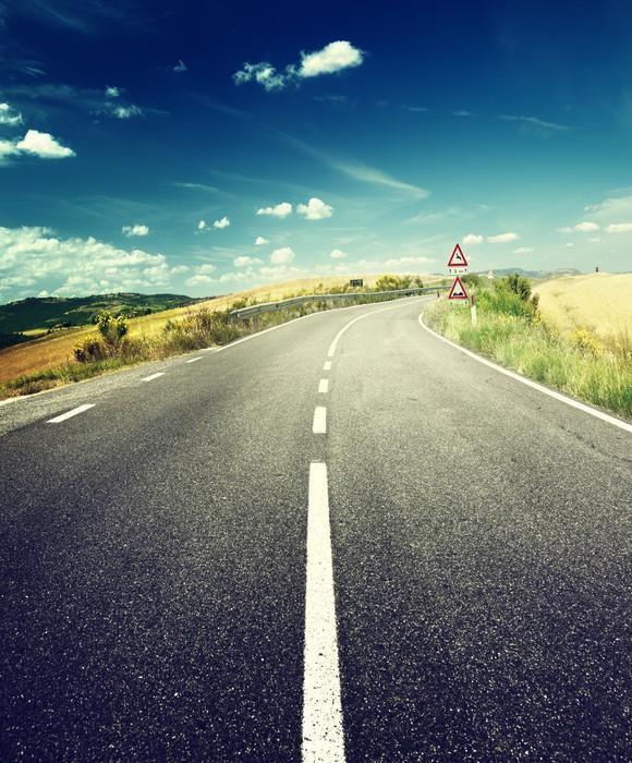Vinylová Tapeta Asfaltové silnici v Toskánsku Itálie - Témata