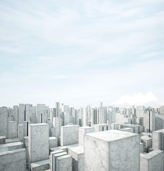 Vinylová Tapeta Abstraktní beton architektura - Jiné