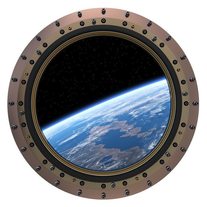 Space Station Porthole Wall Mural Pixers 174 We Live To