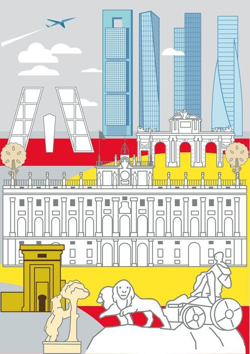 Vinylová Tapeta Madrid Památky - Evropská města