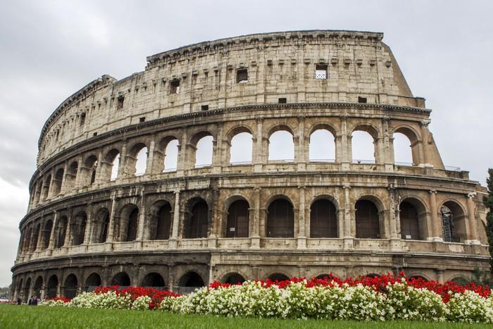 Carta da parati colosseo di roma pixers viviamo per for Carta da parati roma